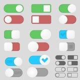 Bloco de alavanca dos botões de interruptor Foto de Stock Royalty Free