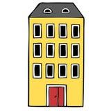 Bloco de apartamentos Ilustração Stock