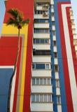 Bloco de apartamentos colorido Imagem de Stock Royalty Free