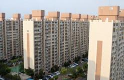 Bloco de apartamentos em Coreia do Sul fotografia de stock royalty free