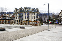 Bloco de apartamentos moderno em Zakopane Foto de Stock