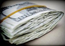 Bloco de bilhetes para 100 dólares Fotografia de Stock