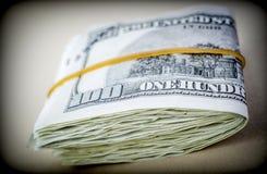 Bloco de bilhetes para 100 dólares Foto de Stock Royalty Free