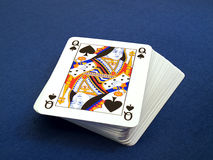 Bloco de cartões de jogo imagem de stock