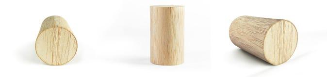 Bloco de cilindro de madeira Fotografia de Stock