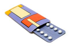 Bloco de comprimidos do controlo da natalidade imagem de stock royalty free