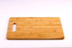 Bloco de desbastamento de madeira isolado com fundo branco Imagens de Stock Royalty Free