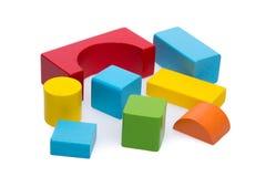 Bloco de madeira classificado do brinquedo imagens de stock royalty free