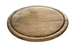 Bloco de madeira de desbastamento velho isolado no fundo branco Fotos de Stock