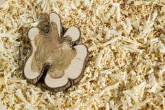 Bloco de madeira em microplaquetas Imagem de Stock