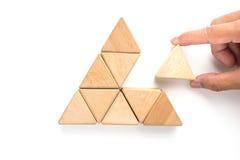 bloco de madeira no fundo branco Imagens de Stock
