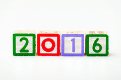 Bloco de madeira pelo ano 2016 Imagem de Stock