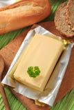 Bloco de manteiga fresca imagens de stock