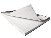Bloco de notas aberto curvado Imagem de Stock