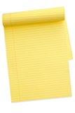 Bloco de notas amarelo (com trajeto) Imagens de Stock