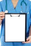 Bloco de notas anónimo do whit do doutor Imagens de Stock