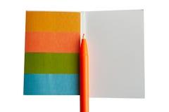 Bloco de notas colorido Fotografia de Stock Royalty Free