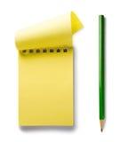 Bloco de notas com lápis Imagem de Stock Royalty Free