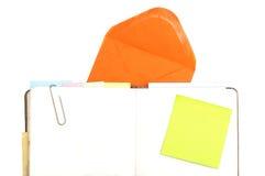 Bloco de notas com notas em branco Fotos de Stock