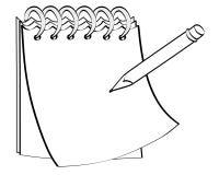 Bloco de notas com um lápis Fotos de Stock