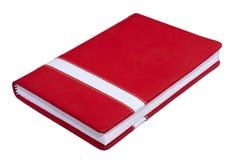 Bloco de notas de papel fechado vermelho Fotos de Stock