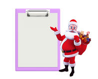 Bloco de notas de Santa Claus With Foto de Stock