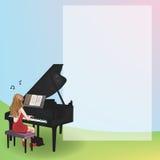 Bloco de notas do piano Fotografia de Stock Royalty Free