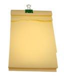 Bloco de notas isolado em um fundo branco Imagens de Stock Royalty Free