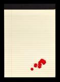 Bloco de notas manchado sangue II Foto de Stock Royalty Free