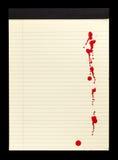 Bloco de notas manchado sangue mim Fotografia de Stock Royalty Free