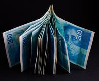 Bloco de novo de 200 shekels Fotografia de Stock