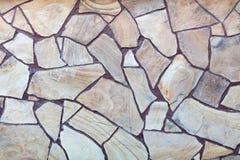 Bloco de pedra natural que pavimenta a textura Fundo do edif?cio fotografia de stock royalty free