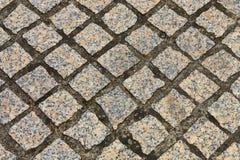 Bloco de pedra que pavimenta o fundo Imagens de Stock