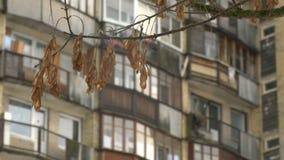 Bloco de planos socialista típico em Vilnius, Lituânia Europa do leste video estoque