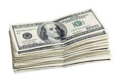Bloco de uns 100 dólares Fotografia de Stock Royalty Free