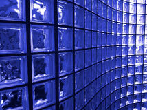 Bloco de vidro azul Imagens de Stock Royalty Free