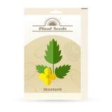 Bloco do ícone das sementes de mostarda ilustração royalty free