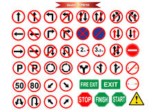 Bloco do ícone do sinal de estrada para o trabalho Imagem de Stock