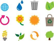 Bloco do ícone do tema de Eco Imagem de Stock