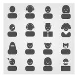 Bloco do ícone dos Avatars Imagem de Stock
