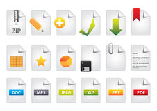 Bloco do bônus do jogo de cor 6 dos ícones Foto de Stock Royalty Free