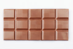 Bloco do chocolate no branco Foto de Stock Royalty Free