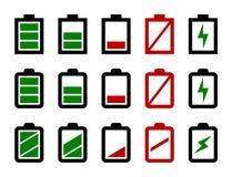 Bloco do nível da bateria Imagem de Stock