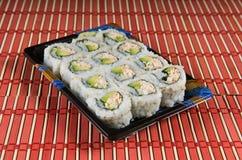 Bloco do petisco do sushi Imagens de Stock