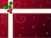 Bloco do presente do azevinho do Natal Imagens de Stock
