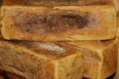Bloco do queijo parmesão Fotos de Stock Royalty Free