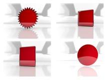 bloco dos ícones 3d Imagens de Stock Royalty Free