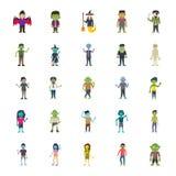 Bloco dos caráteres de Dia das Bruxas ilustração stock