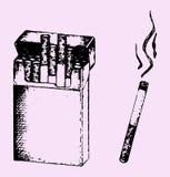 Bloco dos cigarros Fotografia de Stock Royalty Free