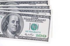 Bloco dos dólares dos EUA em um fundo branco Fotos de Stock Royalty Free